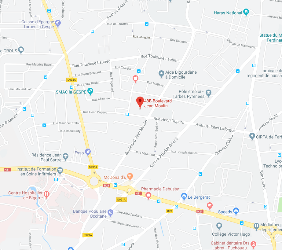 488 Boulevard Jean Moulin - La Malle du Campeur réalise des aménagements amovibles dans les Sud-Ouest, à Tarbes près de Pau, Bayonne, Toulouse, Bordeaux