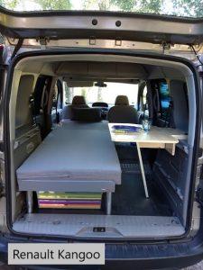 Table intérieure - La Malle du Campeur, aménagement amovible pour voiture de type break, utilitaire, ludoscape, fourgon, van