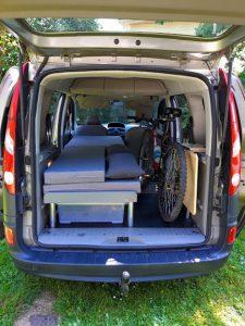 La Malle du Campeur, véhicules aménagés à l'aide de kits amovibles adaptés à tout type de véhicule - VTT