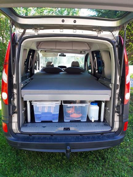 Aménagements modulaires - Lit et matelas - La Malle du Campeur, véhicules aménagés à l'aide de kits amovibles adaptés à tout type de véhicule